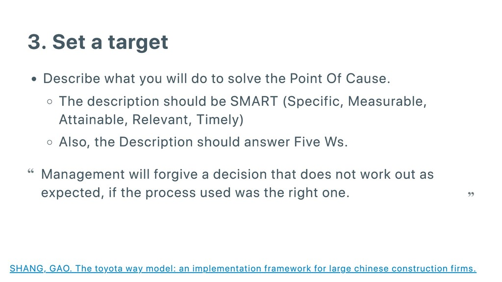 3. Set a target Describe what you will do to so...