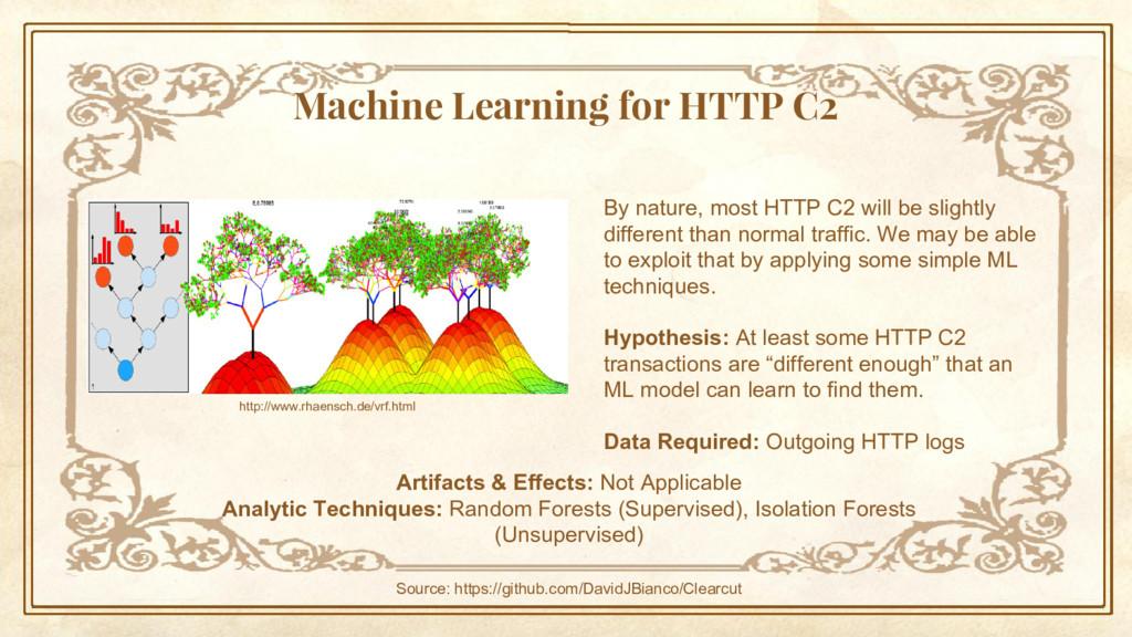 Machine Learning for HTTP C2 http://www.rhaensc...