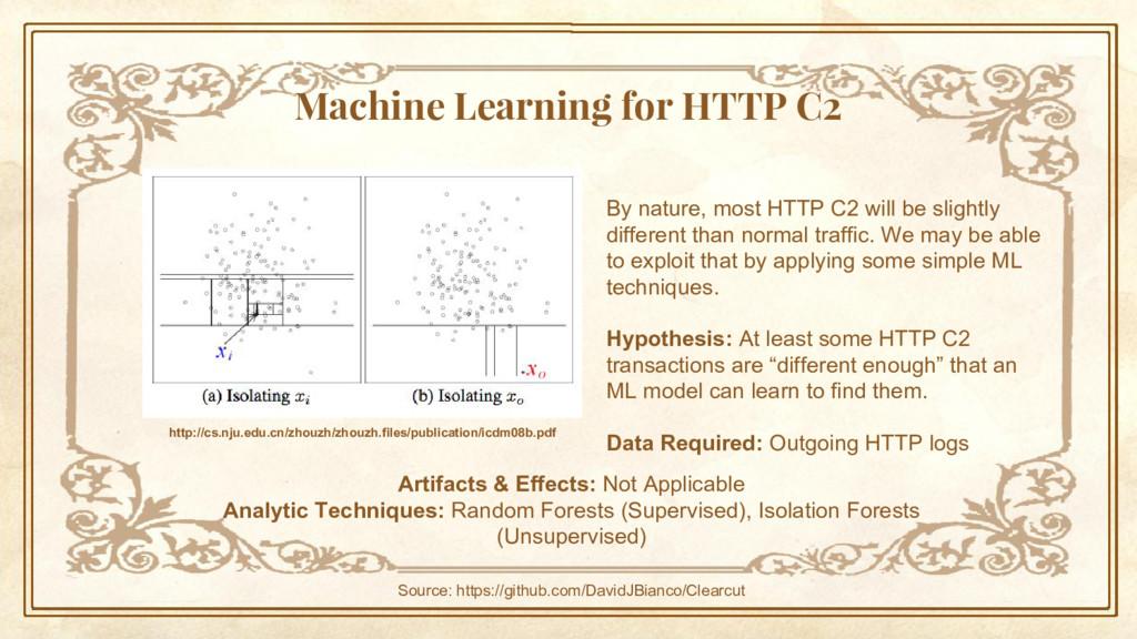 Machine Learning for HTTP C2 http://cs.nju.edu....