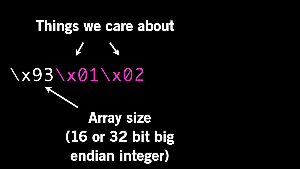 \x93\x01\x02 Array size (16 or 32 bit big endia...