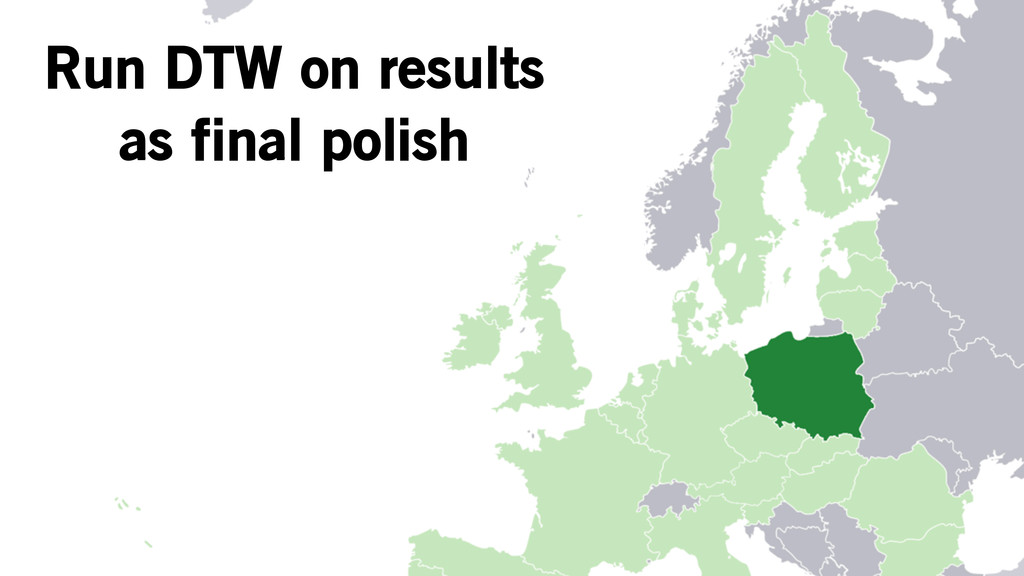 Run DTW on results as final polish