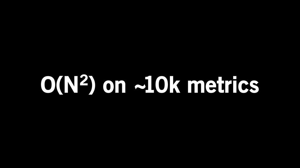 O(N2) on ~10k metrics