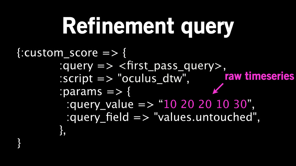 Refinement query {:custom_score => { :query => ...