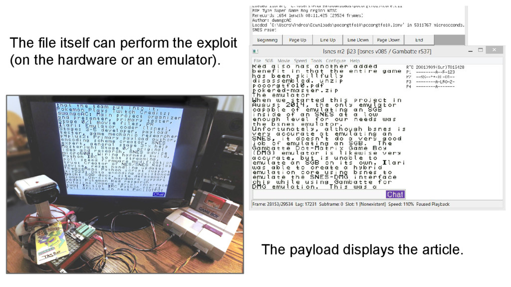 The file itself can perform the exploit (on the...