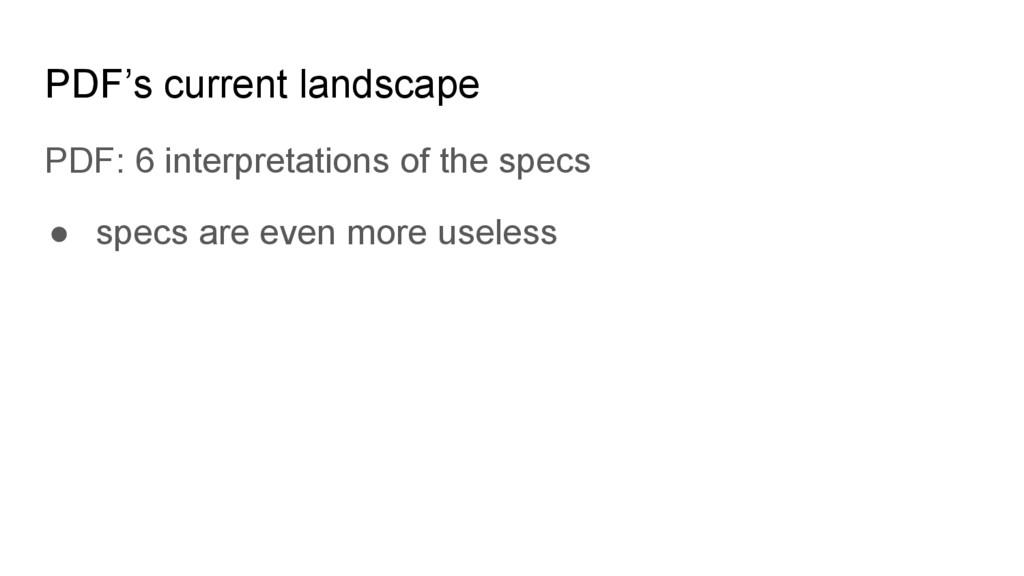 PDF's current landscape PDF: 6 interpretations ...