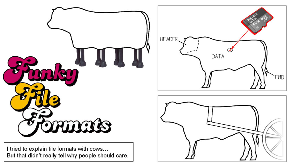 I tried to explain file formats with cows… But ...
