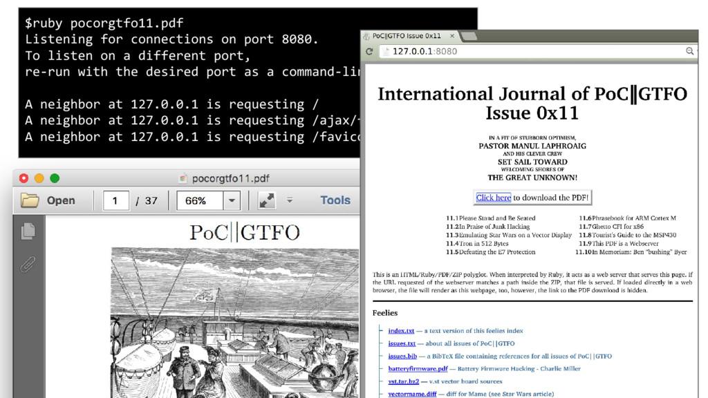 PoC||GTFO 11 is a webserver serving itself, wit...