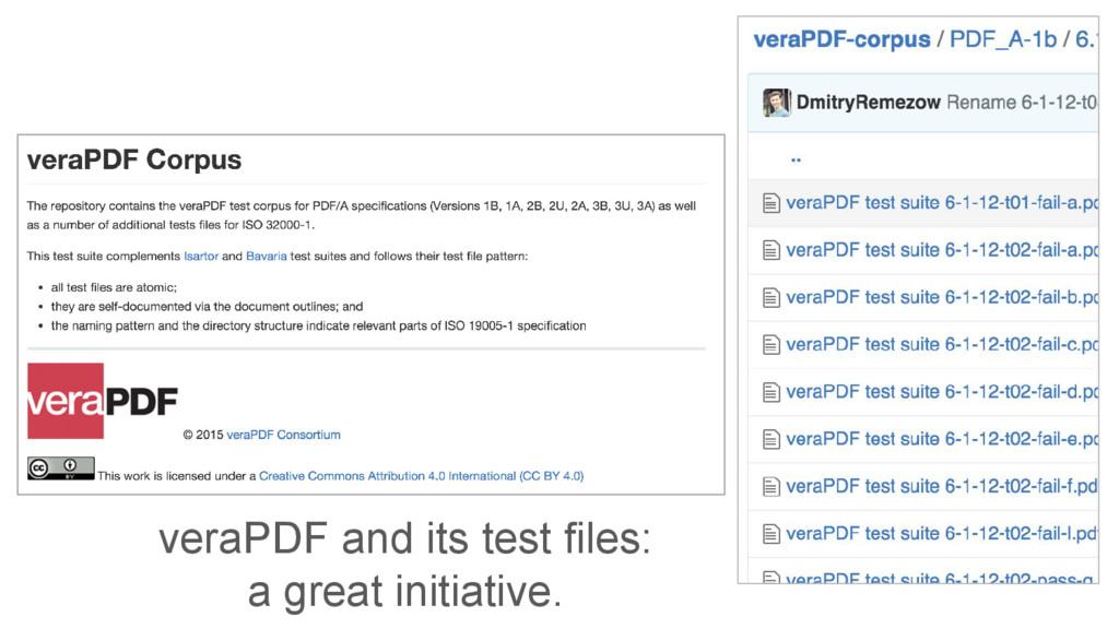 veraPDF and its test files: a great initiative.