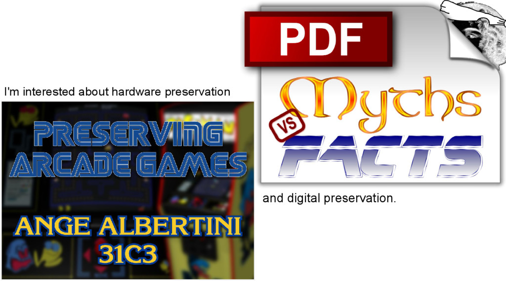 I'm interested about hardware preservation and ...