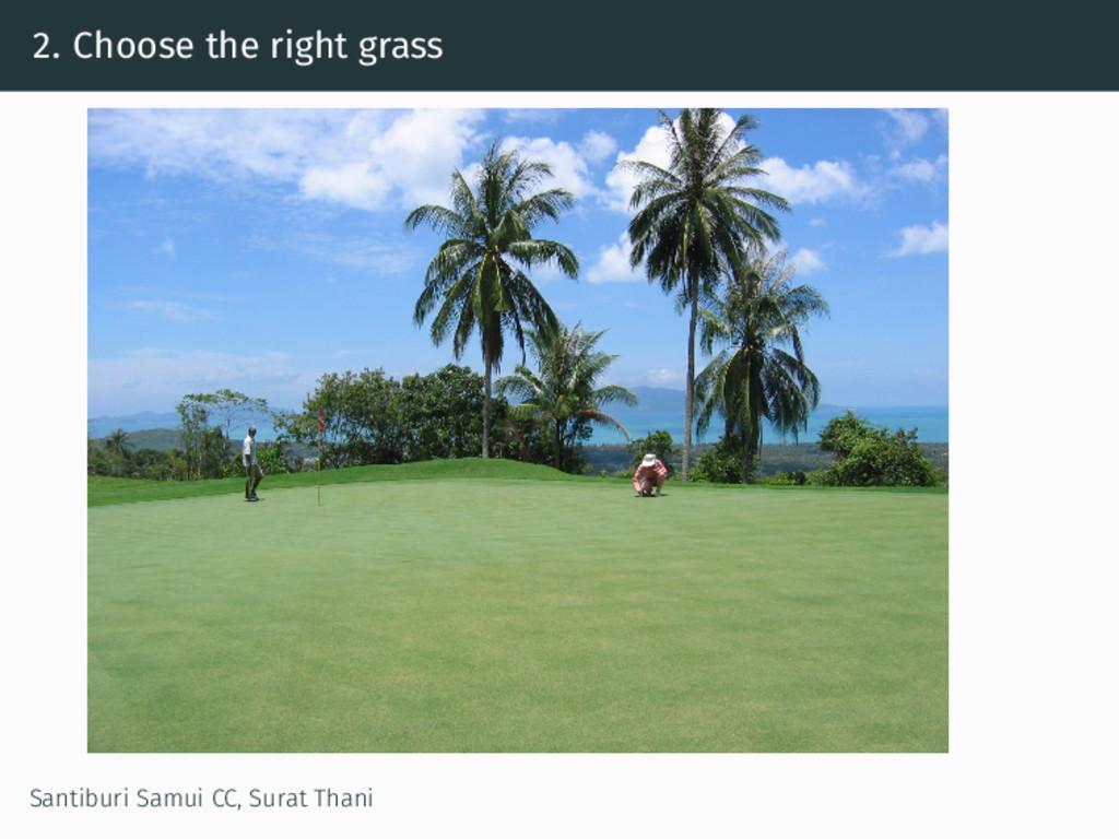 2. Choose the right grass Santiburi Samui CC, S...