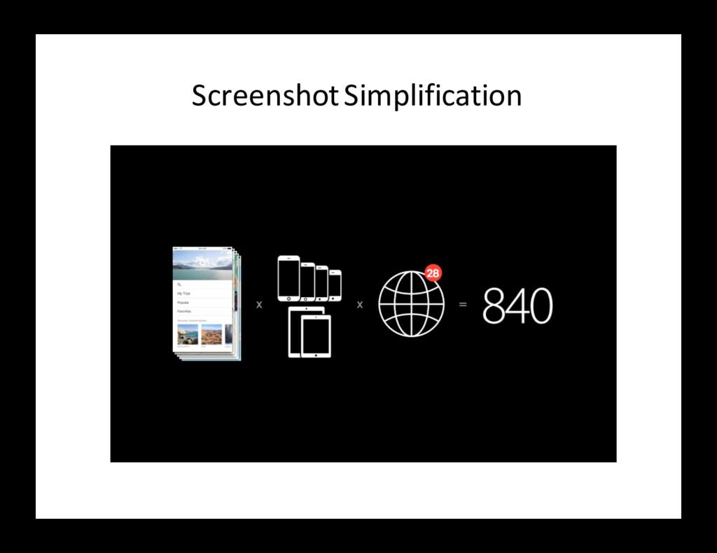 Screenshot Simplification