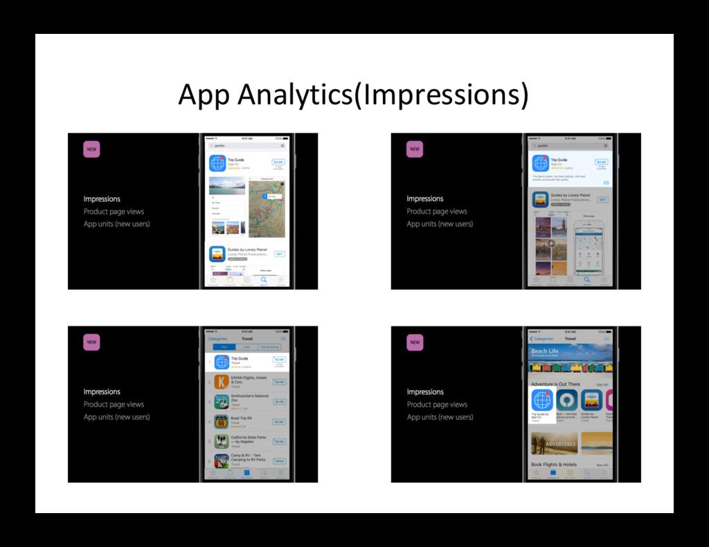 App Analytics(Impressions)