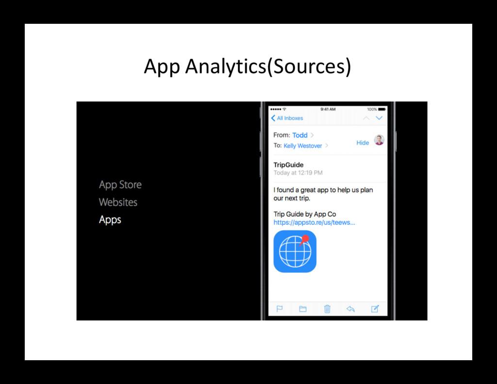 App Analytics(Sources)