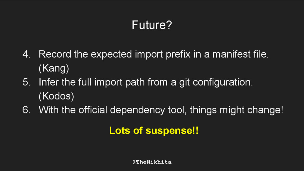 Future? 4. Record the expected import prefix in...
