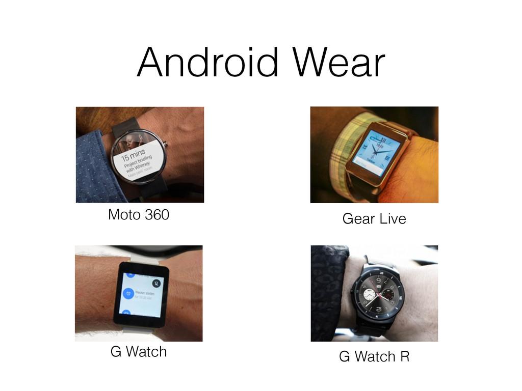 Android Wear Moto 360 G Watch Gear Live G Watch...
