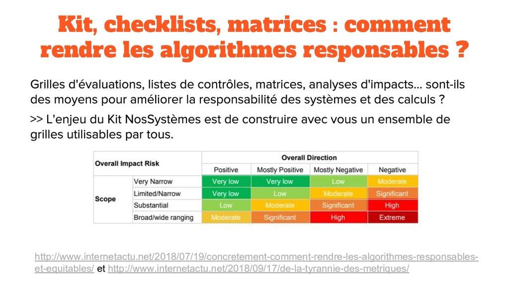 Kit, checklists, matrices : comment rendre les ...