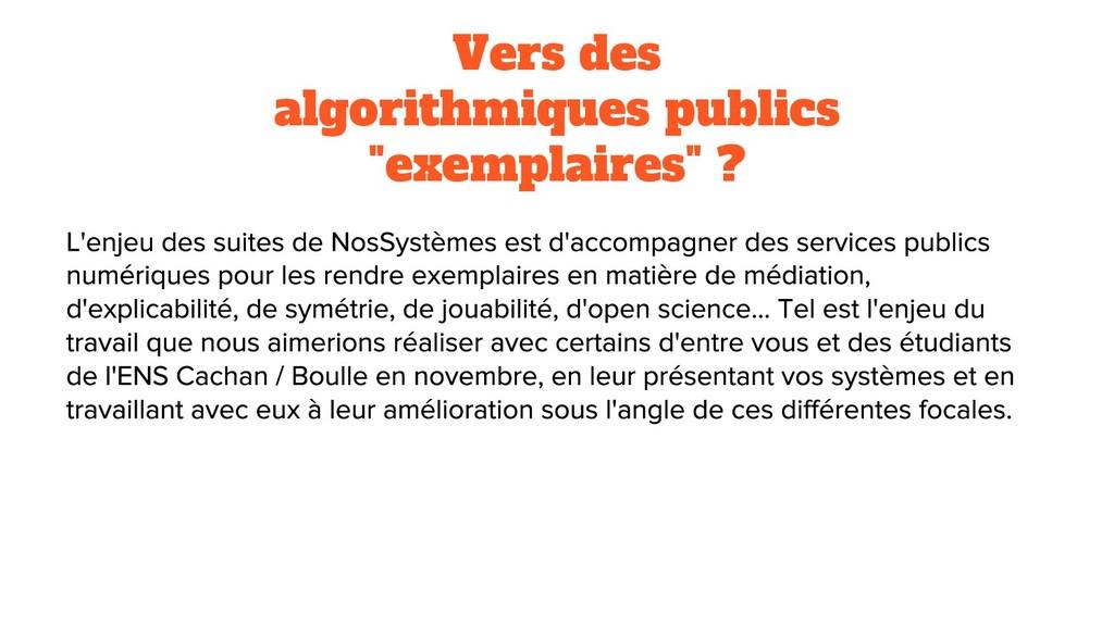 """Vers des algorithmiques publics """"exemplaires"""" ?"""