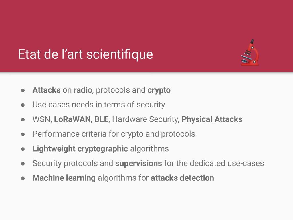 Etat de l'art scientifique ● Attacks on radio, p...