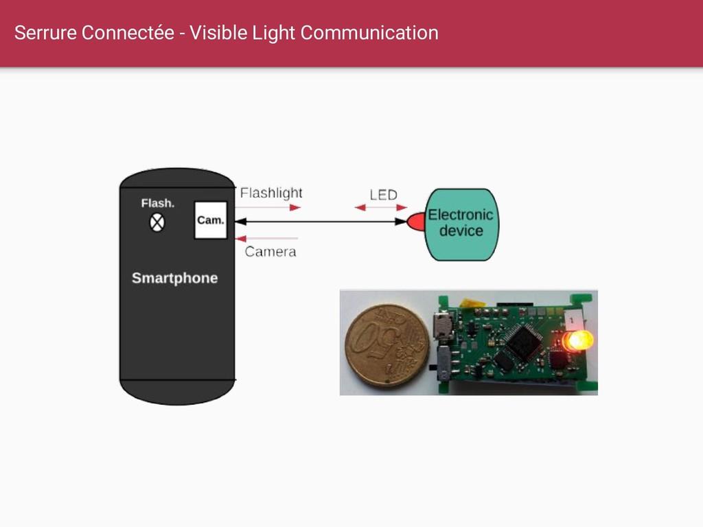 Serrure Connectée - Visible Light Communication