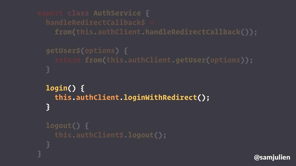 export class AuthService { handleRedirectCallba...