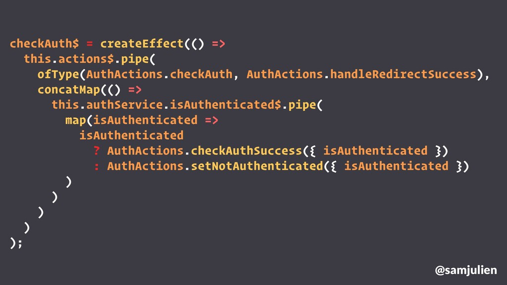 checkAuth$ = createEffect(() => this.actions$.p...