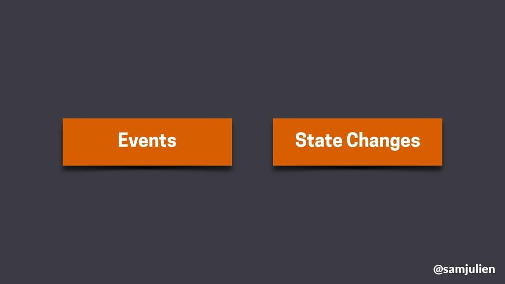 Events State Changes @samjulien