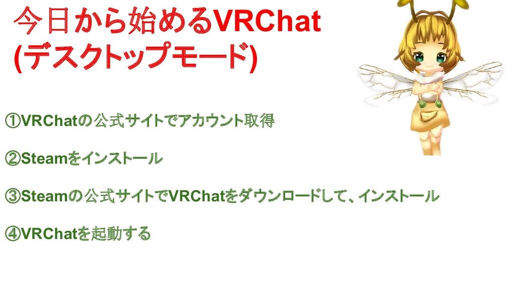 今日から始めるVRChat (デスクトップモード) ①VRChatの公式サイトでアカウント取得...