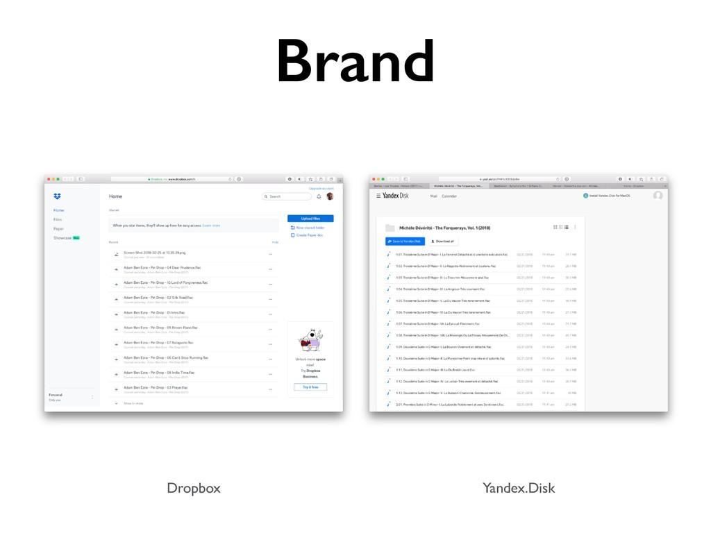 Dropbox Yandex.Disk Brand
