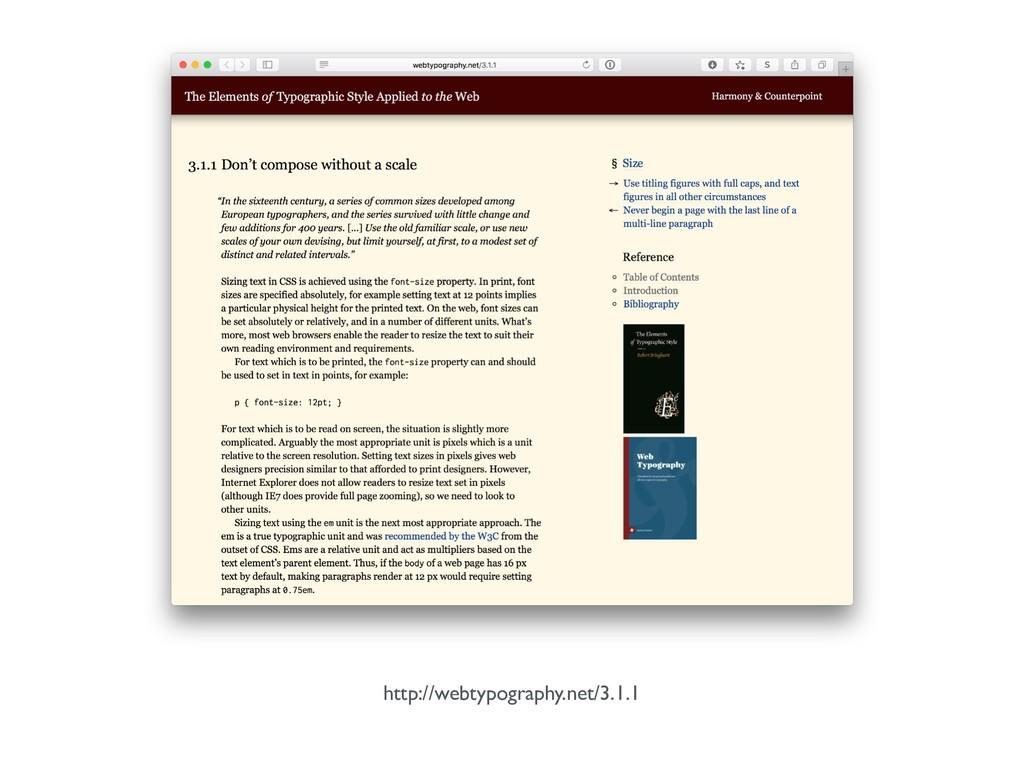 http://webtypography.net/3.1.1