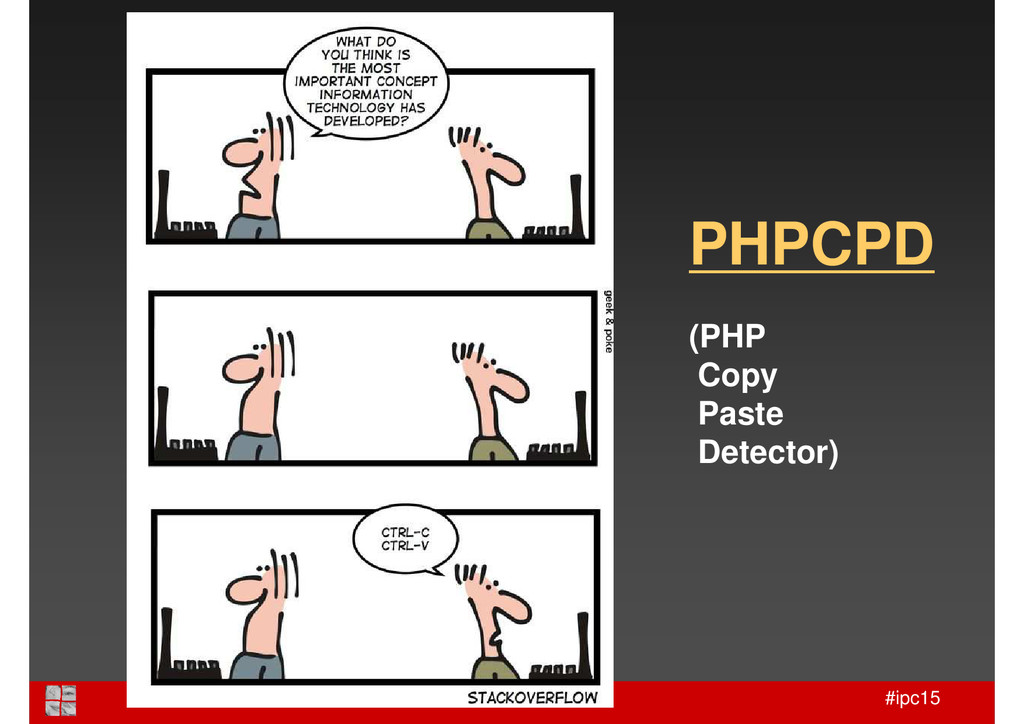 #ipc15 PHPCPD (PHP Copy Paste Detector)