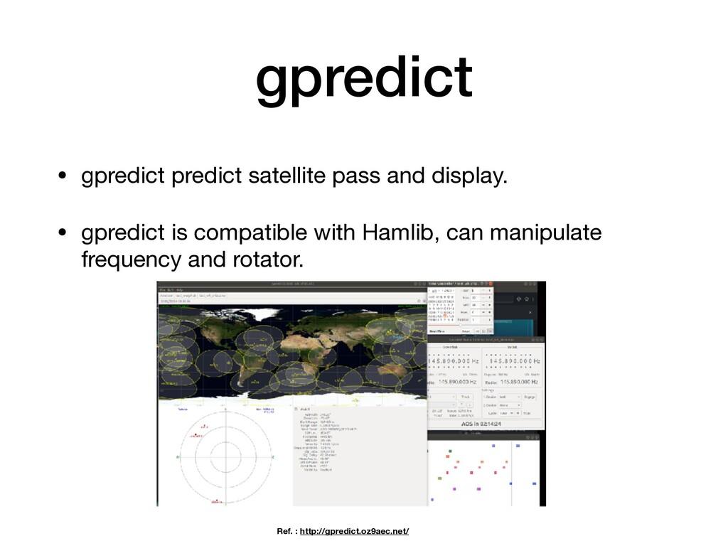 gpredict • gpredict predict satellite pass and ...