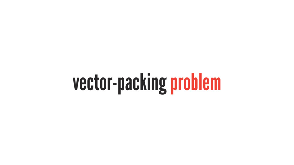 vector-packing problem