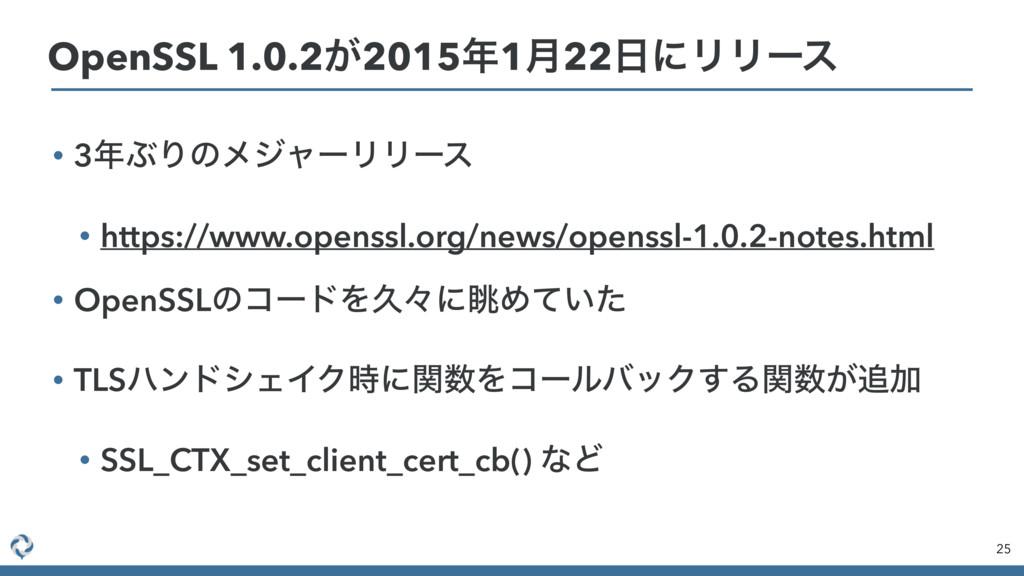 • 3ͿΓͷϝδϟʔϦϦʔε • https://www.openssl.org/news/...