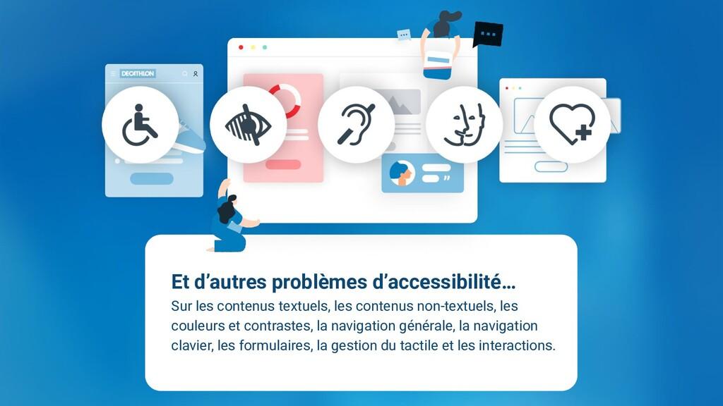 Et d'autres problèmes d'accessibilité… Sur les ...