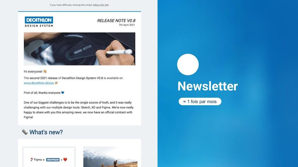 Newsletter  ≈ 1 fois par mois