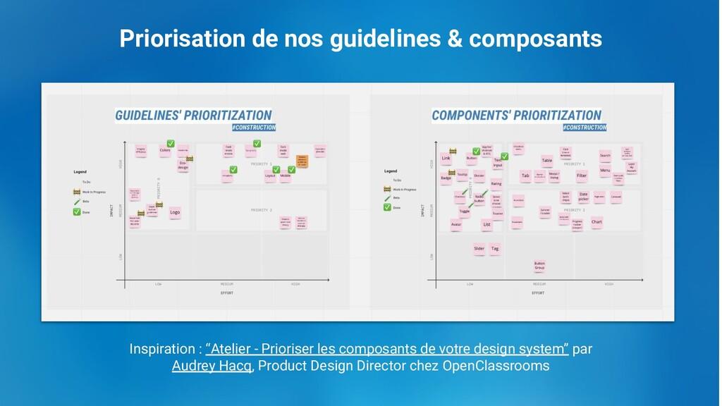Priorisation de nos guidelines & composants Ins...