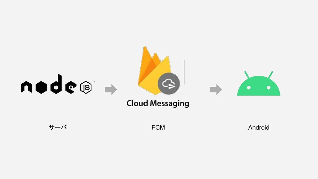 サーバ FCM Android