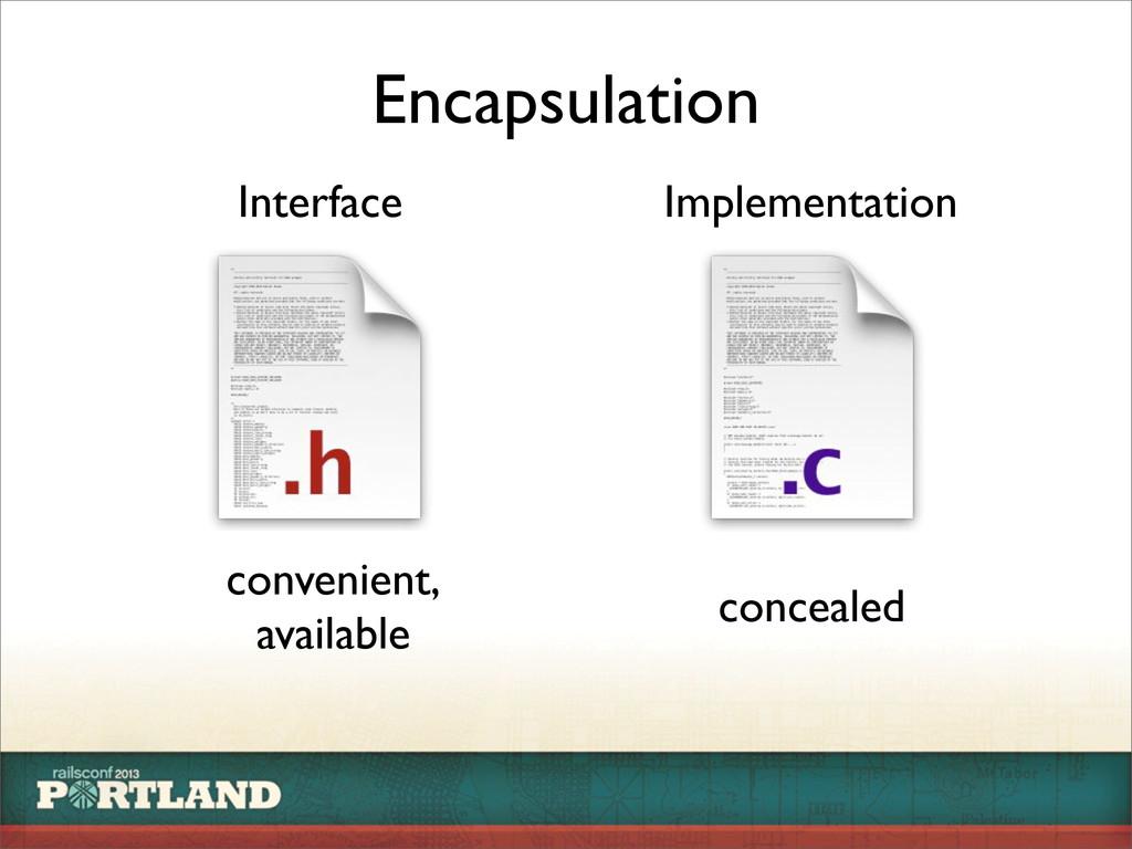 Encapsulation Interface Implementation convenie...