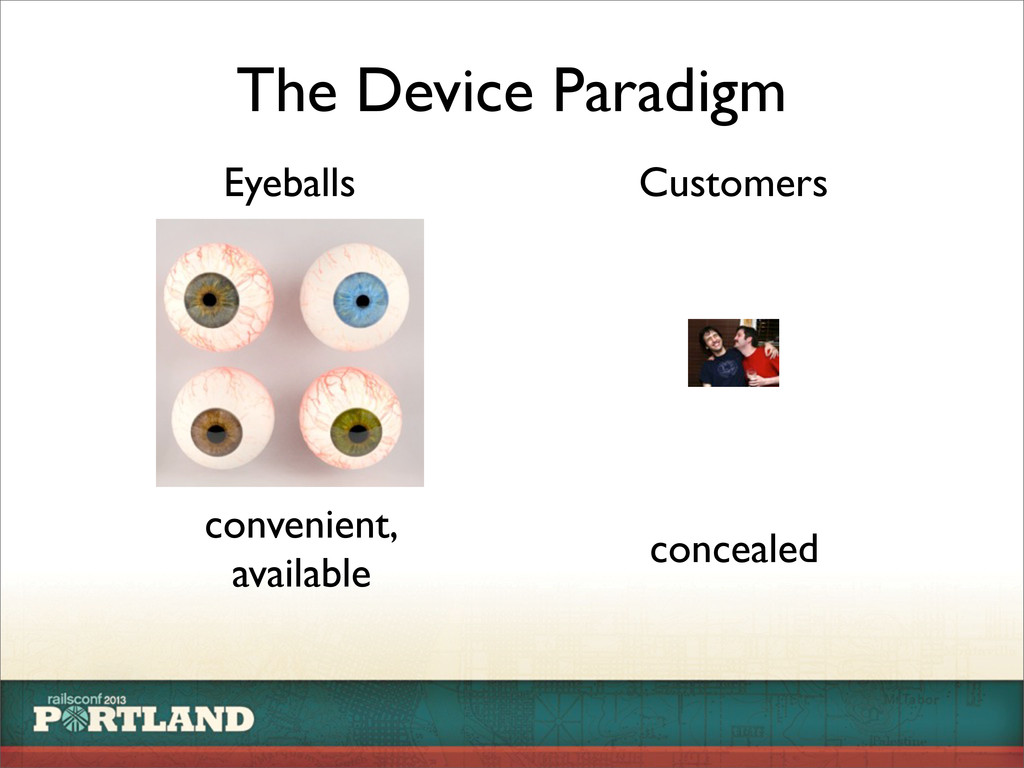 Eyeballs Customers The Device Paradigm convenie...