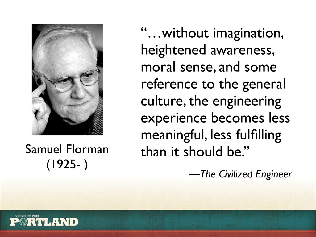 """Samuel Florman (1925- ) """"…without imagination, ..."""