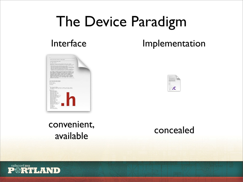 The Device Paradigm Interface Implementation co...