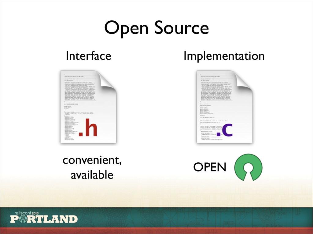 Open Source Interface Implementation convenient...