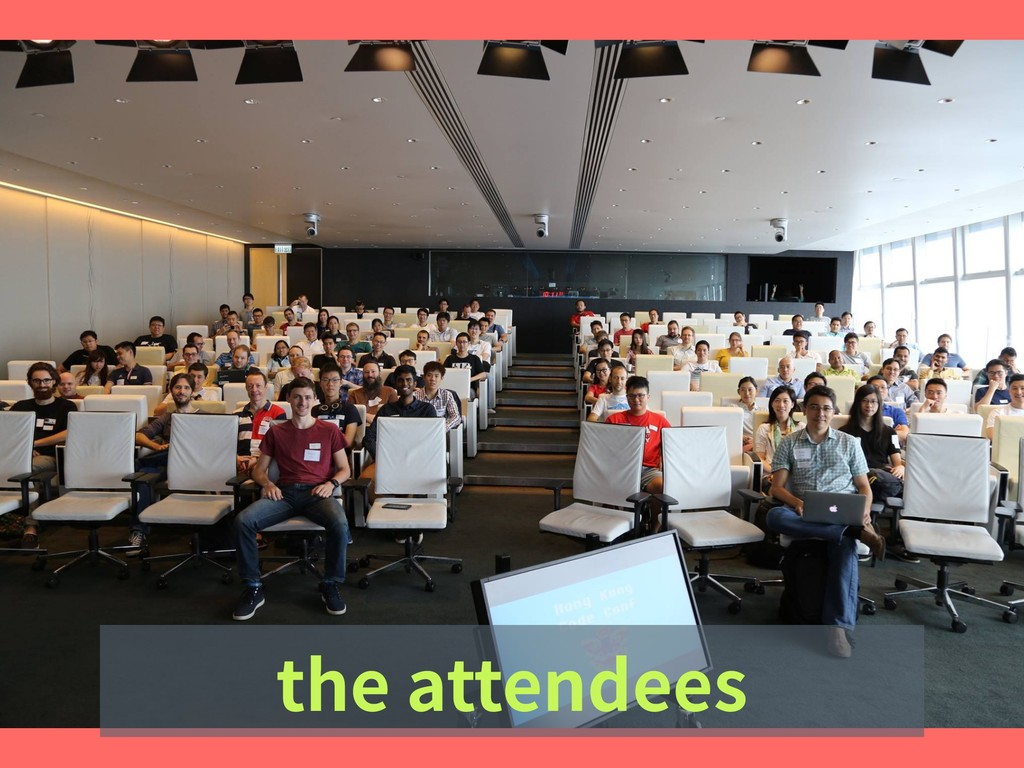 the attendees