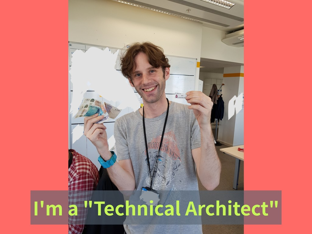 "I'm a ""Technical Architect"""