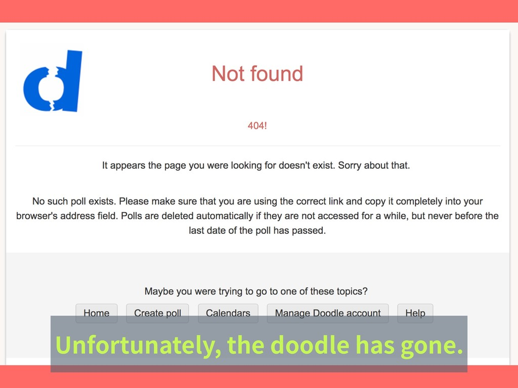 Unfortunately, the doodle has gone.
