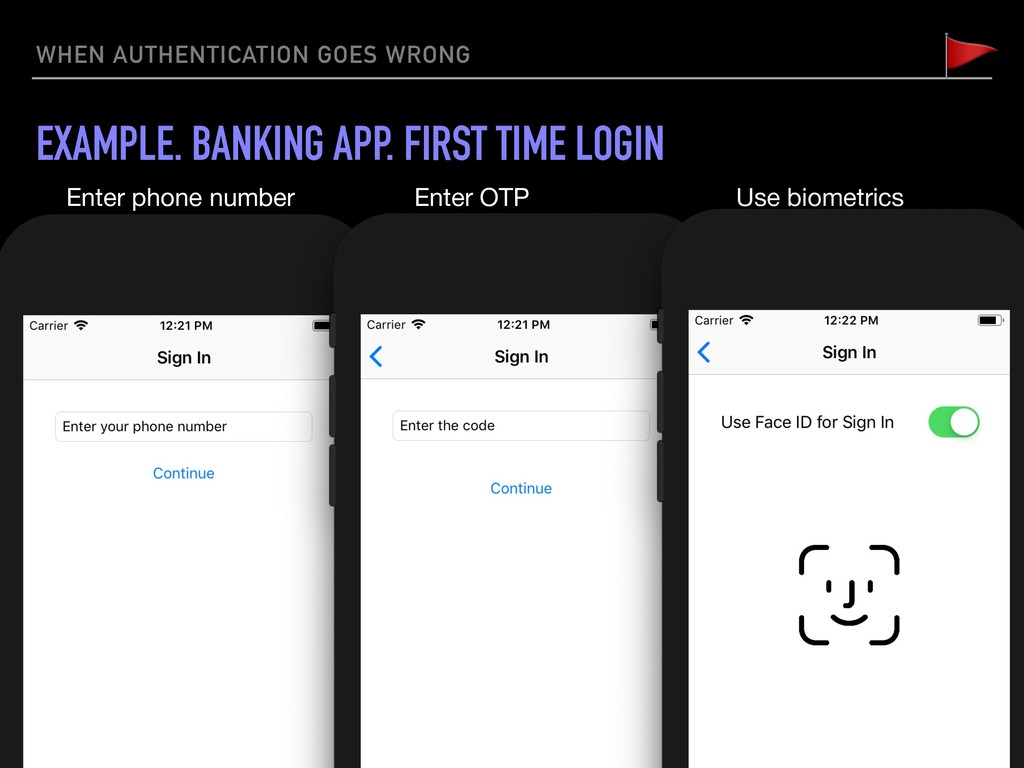 WHEN AUTHENTICATION GOES WRONG EXAMPLE. BANKING...