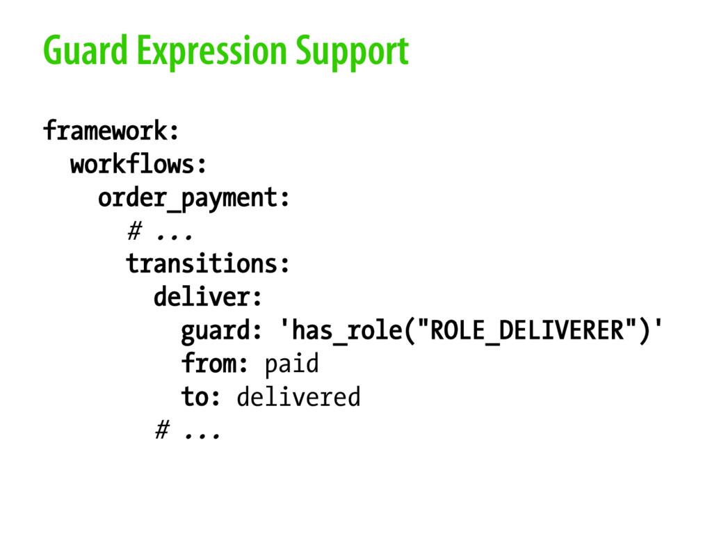 Guard Expression Support framework: workflows: ...