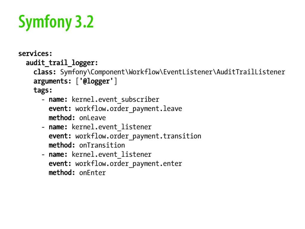 Symfony 3.2 services: audit_trail_logger: class...