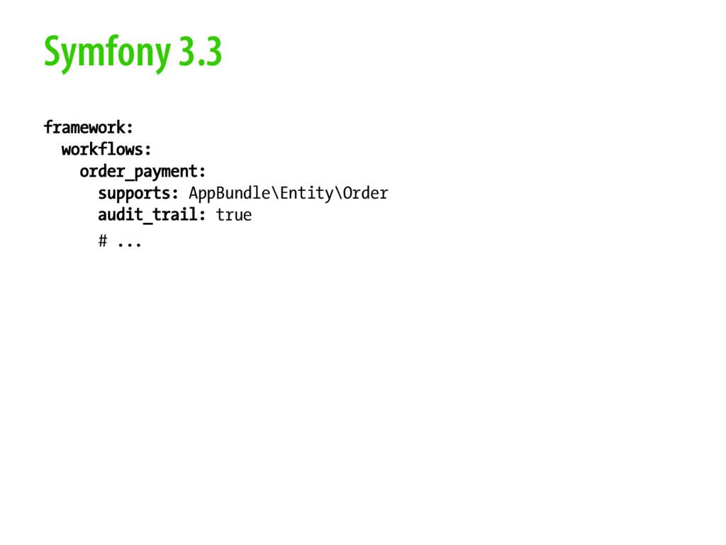 Symfony 3.3 framework: workflows: order_payment...