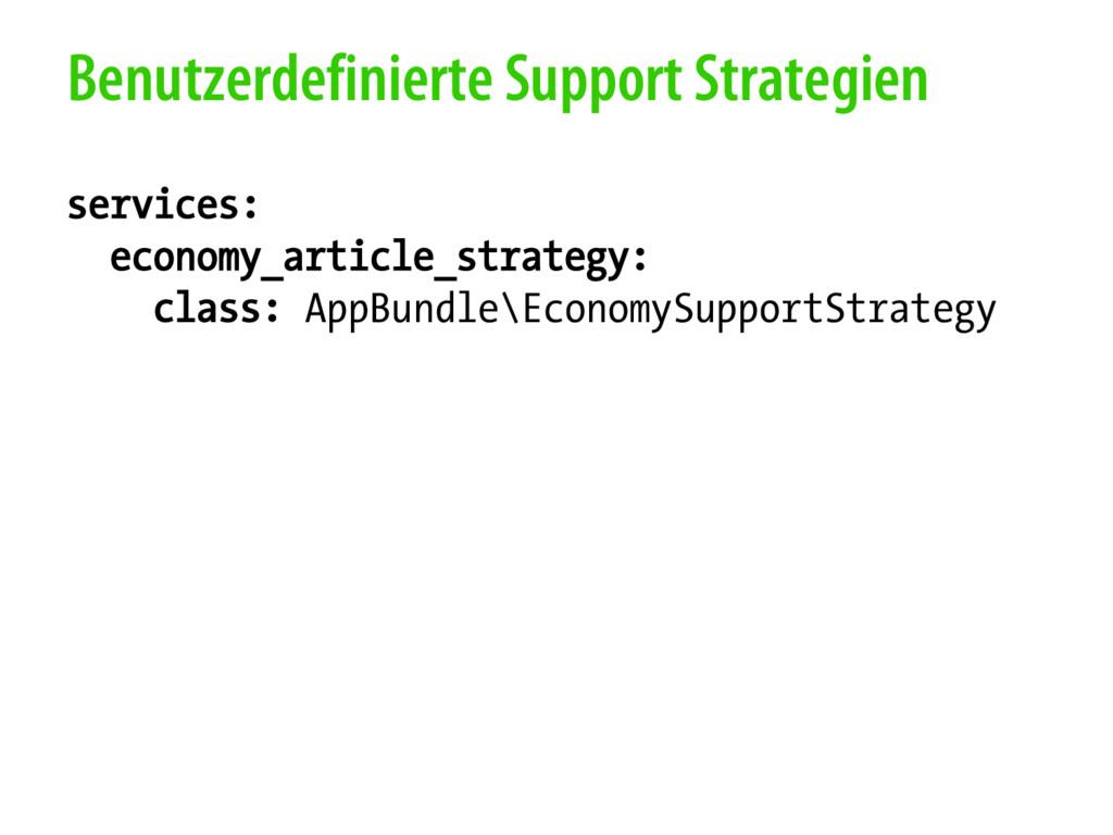 Benutzerdefinierte Support Strategien services:...